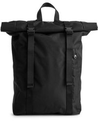 ARKET Fold-top Backpack - Black
