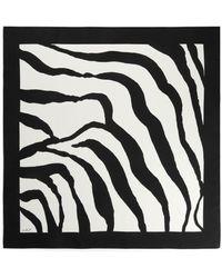 ARKET Printed Silk Scarf - Black