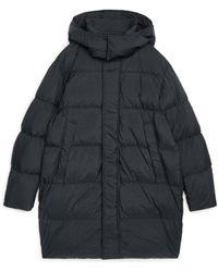 ARKET Long Down Puffer Coat - Black