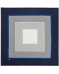 ARKET Square Silk Scarf - Blue