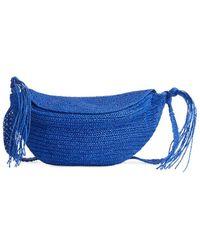 ARKET Crossbody-Tasche Aus Stroh - Blau
