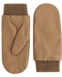 ARKET - Cashmere-lined Leather Mittens - Lyst