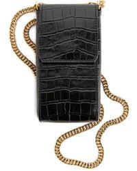 ARKET Leather Phone Case - Black