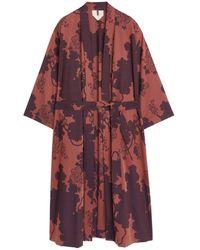 ARKET Cotton Jacquard Robe - Orange