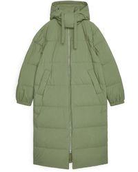 ARKET Long Down Puffer Coat - Green