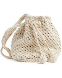 ARKET Crochet Bucket Bag - White