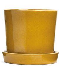 ARKET Terracotta Flower Pot 18 Cm - Yellow