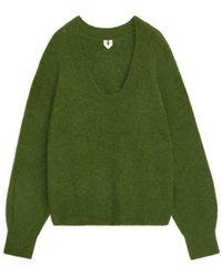 ARKET Alpaca Blend Jumper - Green