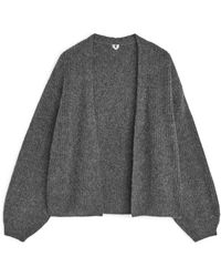ARKET Yak Alpaca Blend Cardigan - Grey