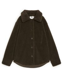 ARKET Pile Shirt - Brown