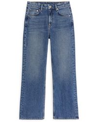 ARKET Flared Cropped Jeans - Blue
