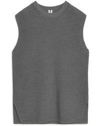 ARKET Knitted Vest - Grey