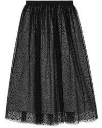 ARKET Printed Tulle Skirt - Black