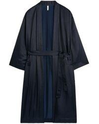 ARKET Silk-blend Morning Robe - Blue