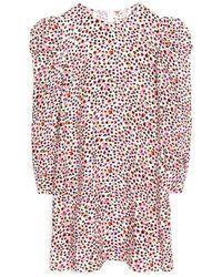 ARKET Puff Sleeve Shift Dress - Multicolour