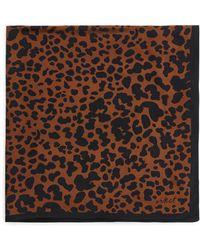 ARKET Printed Silk Scarf - Brown