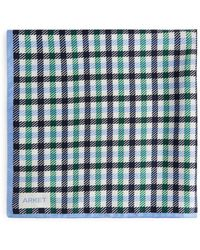 ARKET Printed Silk Scarf - Blue