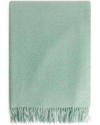 ARKET Wool Scarf 70 X 200 Cm - Green
