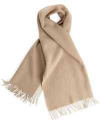 ARKET Double Face Wool Scarf - Natural