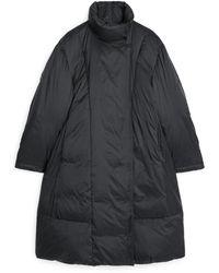 ARKET A-line Down Puffer Coat - Black