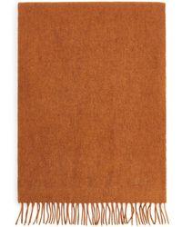 ARKET Woven Yak Scarf - Orange