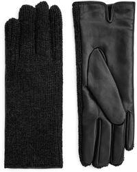 ARKET - Alpaca & Leather Gloves - Lyst
