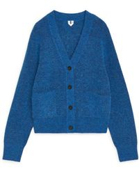 ARKET Alpaca & Merino Cardigan - Blue