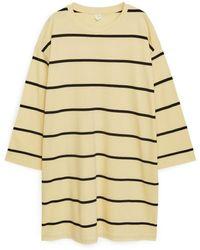 ARKET Pima Cotton Jersey Dress - Natural