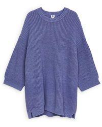 ARKET Oversized-Pullover Aus Baumwollmischung - Lila