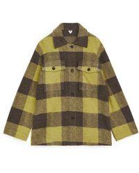 ARKET Oversized Wool Blend Overshirt - Multicolour