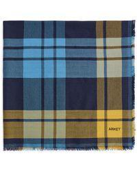 ARKET Wool Blend Scarf - Blue