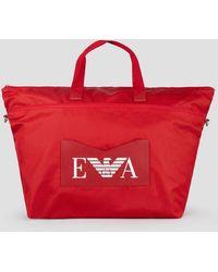Emporio Armani Duffel Bag - Red