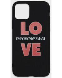 Emporio Armani Iphone 11 Pro Love Case - Black