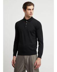 Emporio Armani Knitted Polo Shirts - Nero