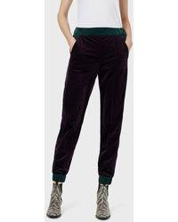 Emporio Armani Casual Pants - Purple