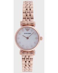Emporio Armani Reloj de acero inoxidable con dos manecillas para mujer - Multicolor