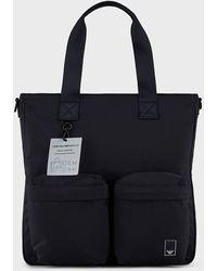 Emporio Armani Bolso shopper de nailon Travel Essential - Negro