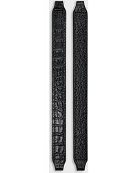 Emporio Armani Set Of Two Laminated Myea Bag Handles - Black