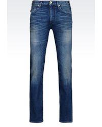 Armani Jeans - Slim Fit Medium Wash Jeans - Lyst