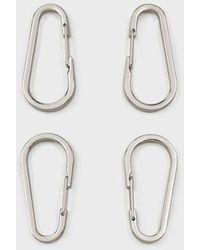 Emporio Armani Set Of Four Myea Bag Galvanised Hooks - Metallic