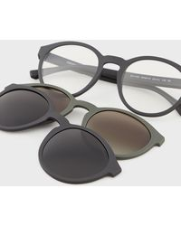Emporio Armani Panthos-shape Clip-on Style - Black