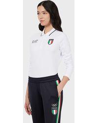 Emporio Armani Polo Team Italia Olimpiadas Tokio 2020 - Blanco