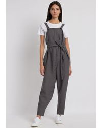 fce0479d5f5 Lyst - Emporio Armani Long Sleeve Jumpsuit in Blue