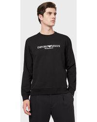 Emporio Armani Logo Print Sweatshirt - Black