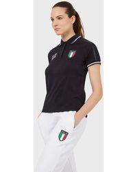 Emporio Armani Polo Team Italia - Negro