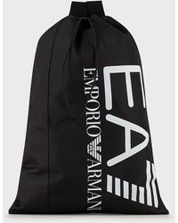 Emporio Armani Sac avec maxi logo - Noir
