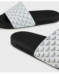 Emporio Armani Slides - White