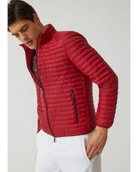Emporio Armani Technical Fabric Down Jacket - Red