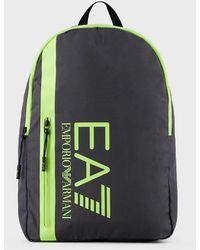 Emporio Armani Sac à dos avec logo contrasté - Multicolore