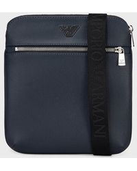 Emporio Armani - Small, Flat Shoulder Bag With Logo Plate - Lyst